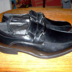 Mens Size 7 Shiny Black Dress Shoes Loafers